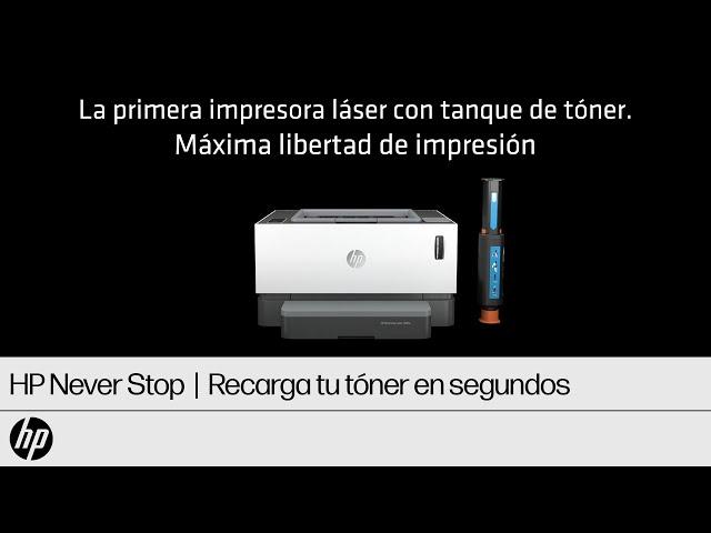 Nuevas HP Never Stop Laser con tanque de tóner  | HP