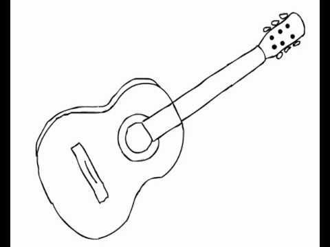 How To Draw Acoustic Guitar Easy For Beginners Youtube