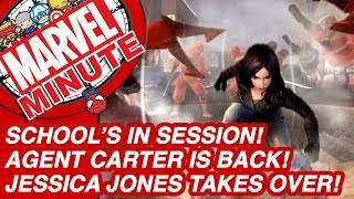 School's in session! Agent Carter makes a comeback! Jessica Jones takes over! - Marvel Minute 2015