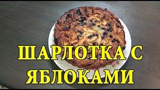 Рецепт: шарлотка с яблоками и черной смородиной в духовке