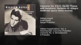 Theme and Variations: Variation III: Allegro moderato (poco meno mosso)