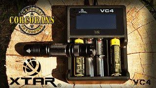 Обзор XTAR VC4/Умное зарядное устройство для для тактического фонаря