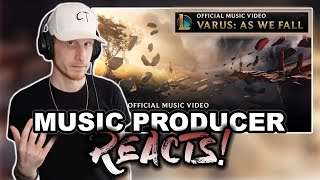 Music Producer Reacts to As We Fall | Varus (League of Legends)