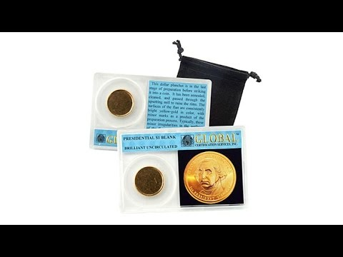 Uncirculated Presidential Dollar Blank Error Coin