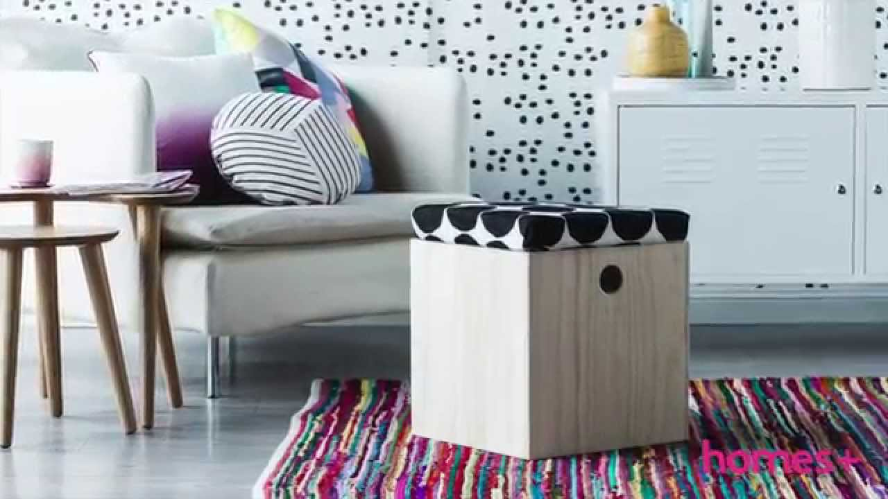 STORAGE BOX DIY IDEAS #1: Ottoman - homes+ - YouTube