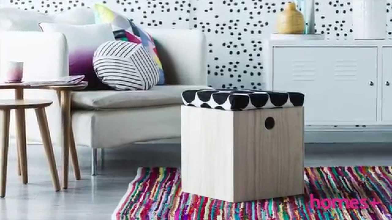 Storage box diy ideas 1 ottoman homes youtube solutioingenieria Images