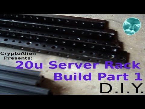 20u Server Rack Build Part 1 D.I.Y.