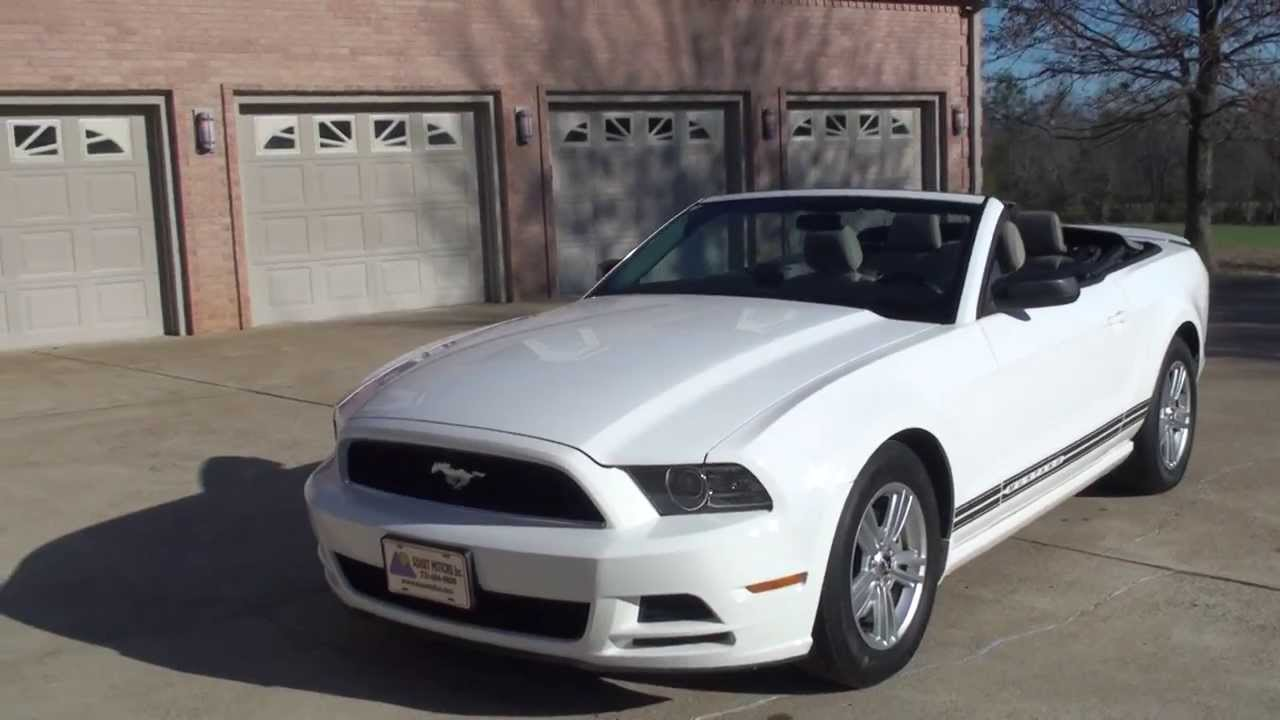 Hd Video Ford Mustang V6 Convertible White See Www