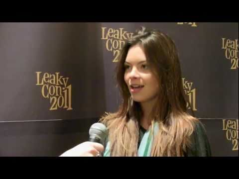 with Scarlett Byrne  Pansy Parkinson in Harry Potter films  at Leakycon