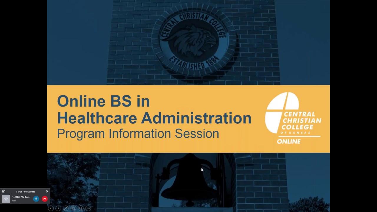 Online Bs In Healthcare Administration Program Webinar Recording