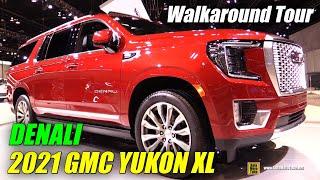 2021 GMC Yukon XL Denali - Exterior Interior Walkaround - Debut at 2020 Chicago Auto Show