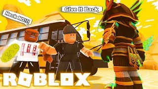 I STOLE From The EGYPTIAN TOMB While On A Roblox FIELD TRIP! (He Made Me Do It)