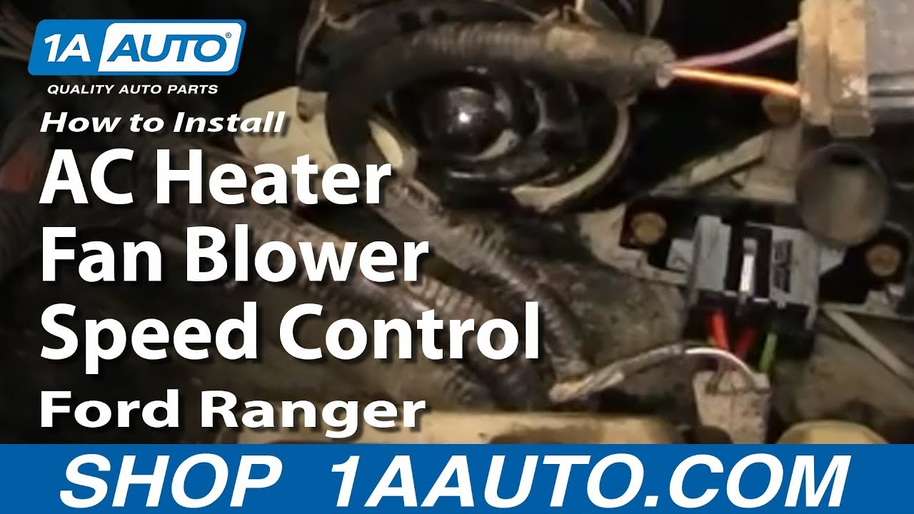How To Install Replace Ac Heater Fan Blower Speed Control Resistor Ford Motor Wiring Diagram 93 97 Ranger 1aautocom Youtube