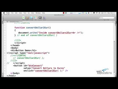 Calling JavaScript Functions using a Button - YouTube