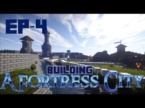 Minecraft: Building A Fortress City: Merchant Buildings [04] [Cinematic/Timelapse]