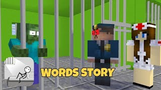 Monster School WORDS STORY CHALLENGE-MINECRAFT ANIMATION