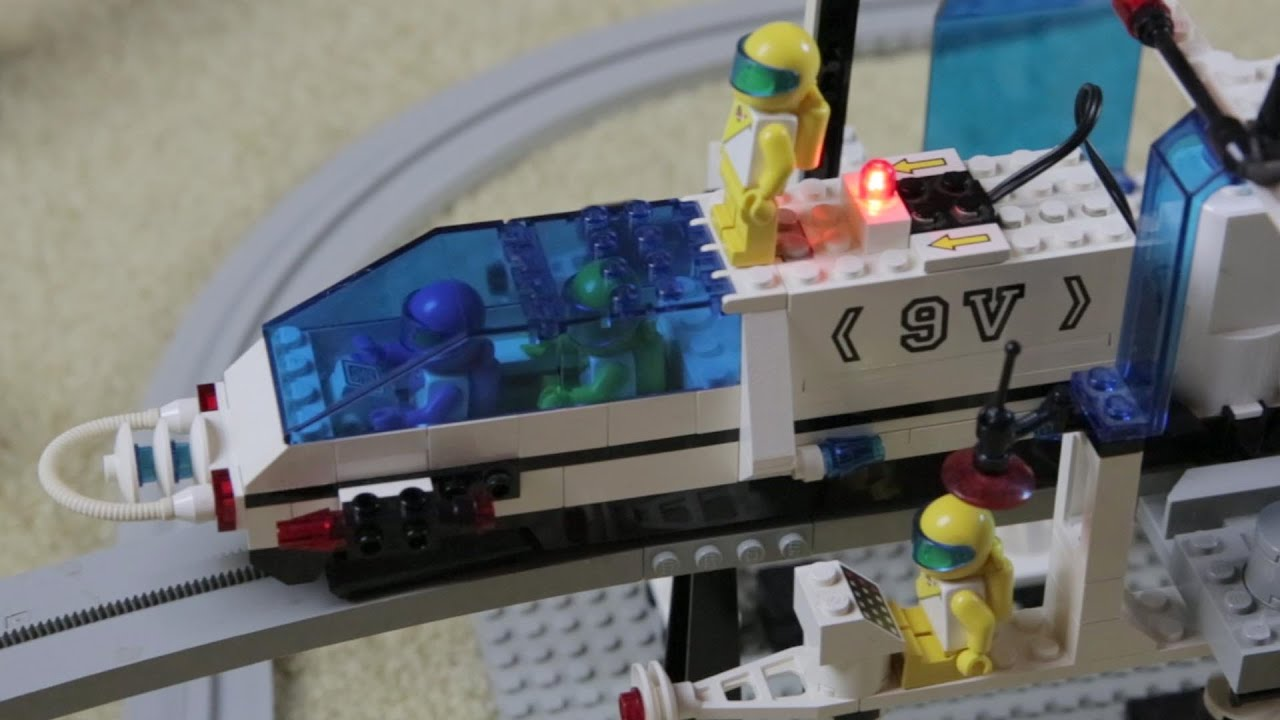 6991 MONORAIL TRACK Tested Working LEGO Monorail 9V Motor  6399 6990