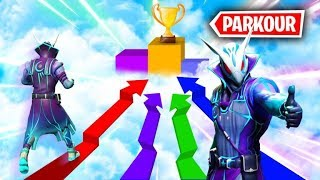 FORTNITE *PARKOUR RACE* WITH NEW OWL SKIN