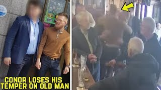 The alleged reason Conor sucker-punched elderly man at pub; Israel gets emotional arguing with fan