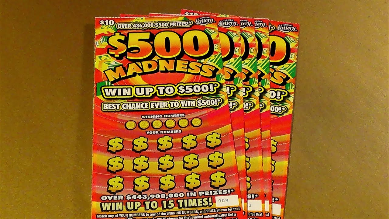 SNS 79: FIVE $500 MADNESS Florida Lottery Scratch Tickets