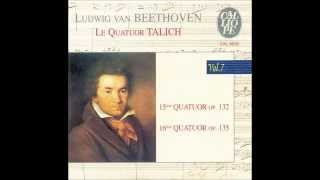Beethoven String Quartet No. 15 in A minor, op 132 - Talich Quartet