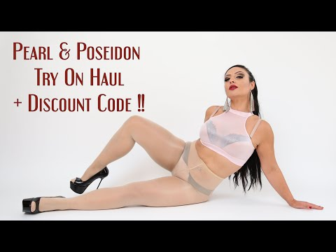 Huge Pearl & Poseidon Intimates shiny nylons try on haul + discount code
