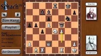 Anderssen vs Steinitz [Schachgeschichte  #008.5]