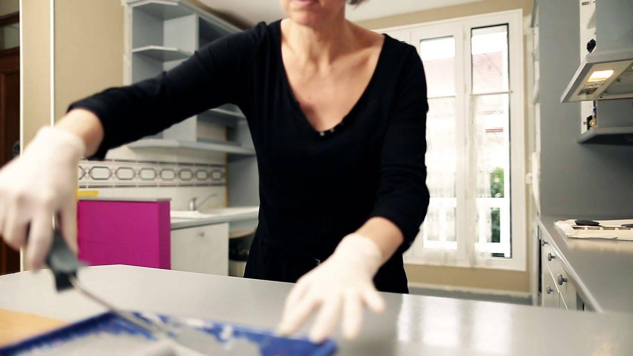 peinture resine pour plan de travail cuisine