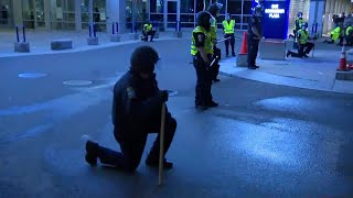"""Boston Police """"Take a Knee"""" amid George Floyd protests"""