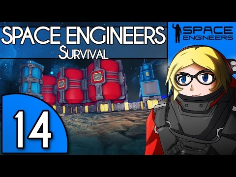 Building a hydrogen plant the derpy way XD - Space Engineers Survival Gameplay - 14