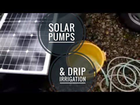 Drip irrigation and solar combination