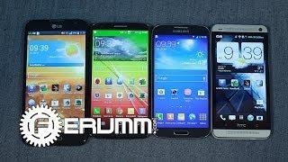 Сравнение LG G2 VS Samsung Galaxy S4 VS HTC One VS  LG Optimus G Pro. Битва титанов