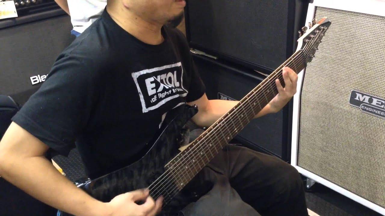 trying ibanez 9 strings guitar rg9qm youtube. Black Bedroom Furniture Sets. Home Design Ideas