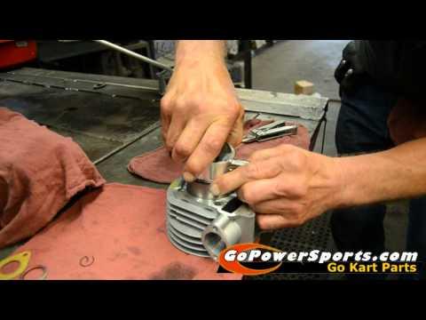 Installing the 150cc Go Kart Engine Rebuild Kit - YouTube