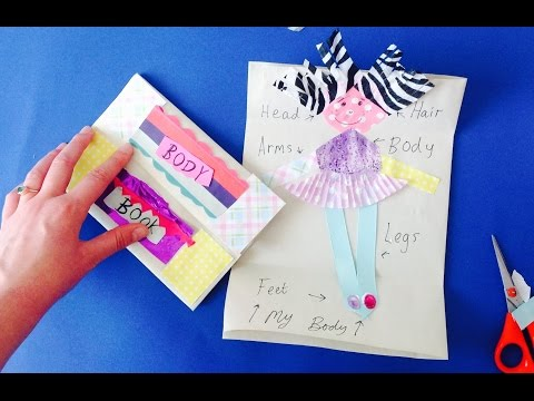 Childrens Make Book Craft My Body Arts Activity