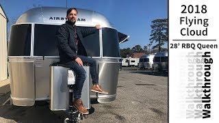 Walk Through 2018 Airstream Flying Cloud 28RBQ Travel Trailer RV Camping