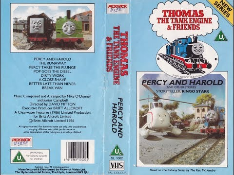 Thomas the Tank Engine & Friends - Percy and Harold and other stories (1989 Reissue UK VHS) thumbnail
