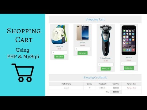 Create Shopping Cart Using PHP And Mysql