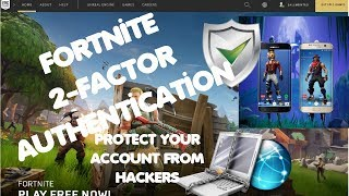 How To Setup FORTNITE 2-FACTOR AUTHENTICATION! PROTECT YOUR ACCOUNT FROM HACKERS & SCAMMERS!