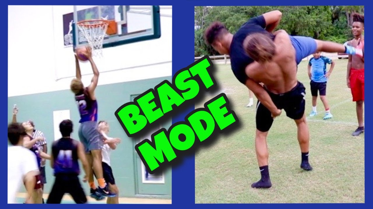 He's too BIG FOR YOU! 😲 Wrestling & Basketball Highlights!