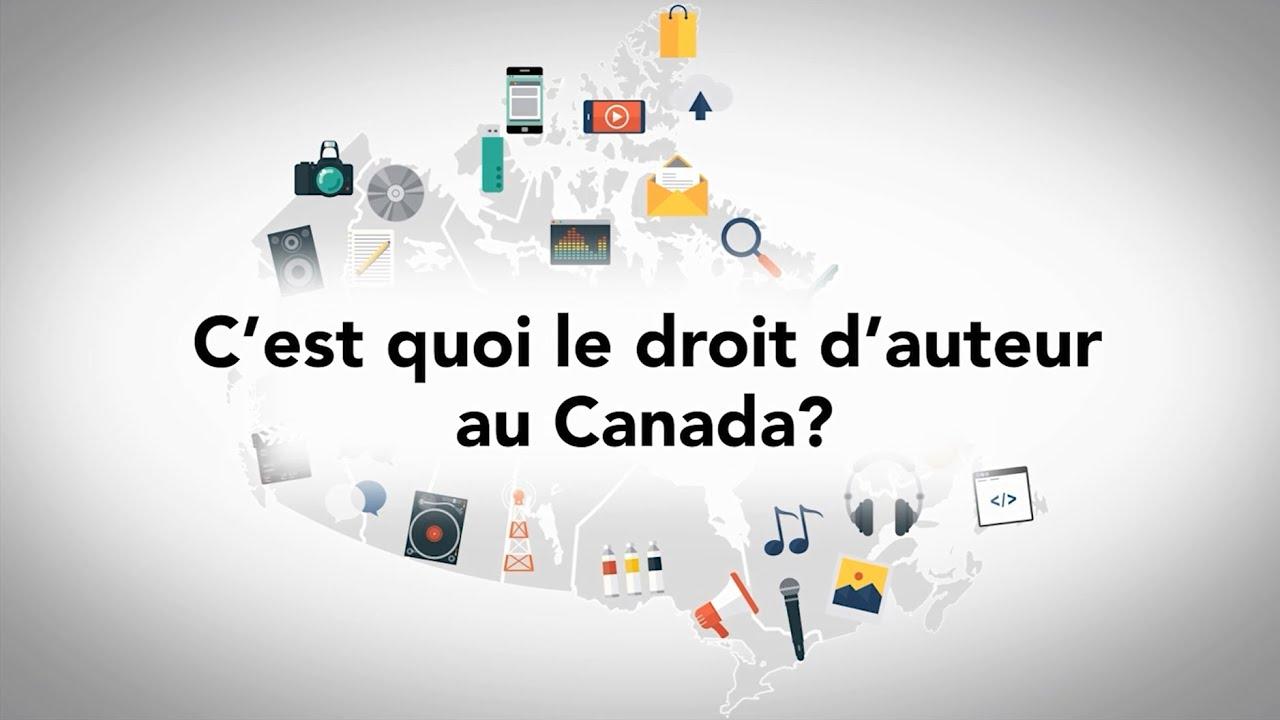 Qu Est Ce Qu Un Droit D Auteur Canada Youtube