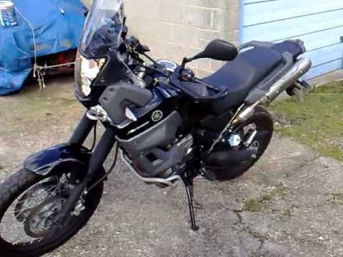 yamaha xt660z tenere with akrapovic exhaust youtube. Black Bedroom Furniture Sets. Home Design Ideas