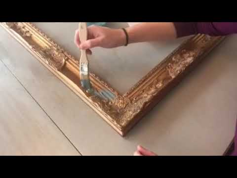 How To Antique A Frame Using Chalk Paint