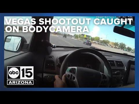 Wild Las Vegas shootout caught on officer's body camera video