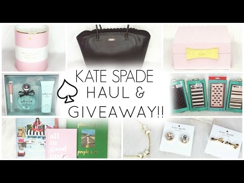 KATE SPADE HAUL & GIVEAWAY! ♡ Decor, Accessories, Stationery, Jewelry, Kitchen & Tech Accessories