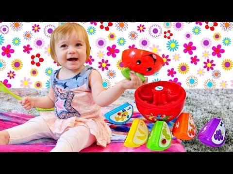 Дада игрушки - Бьянка и Яблоко - Учим Фрукты для малышей