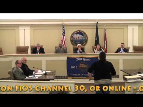 May 2, 2016 - Township of Hamilton Committee Meeting