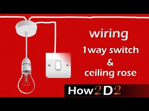 LIGHTING CIRCUIT ceiling rose one way switch wiring connecti