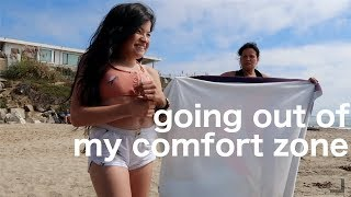 facing my insecurities at the beach