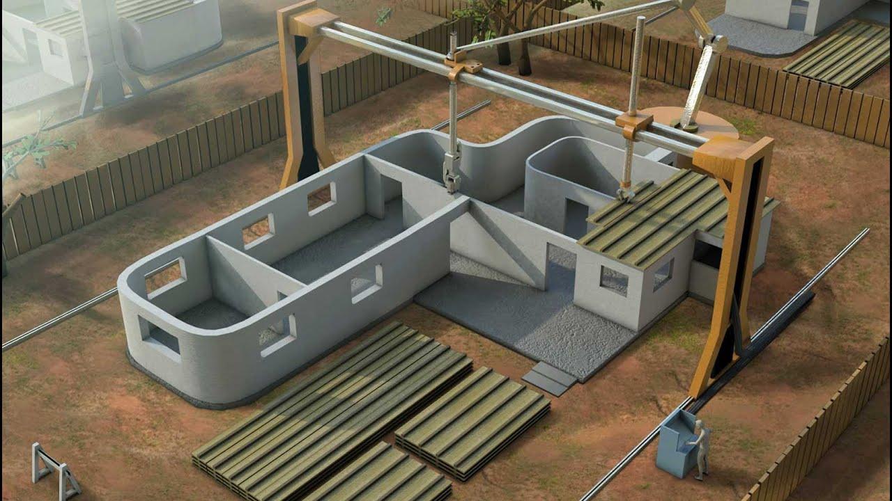 As se construye una casa con una impresora 3d youtube Impresion 3d construccion